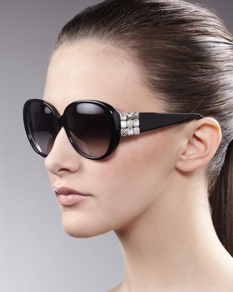 Chiclet Sunglasses, Black