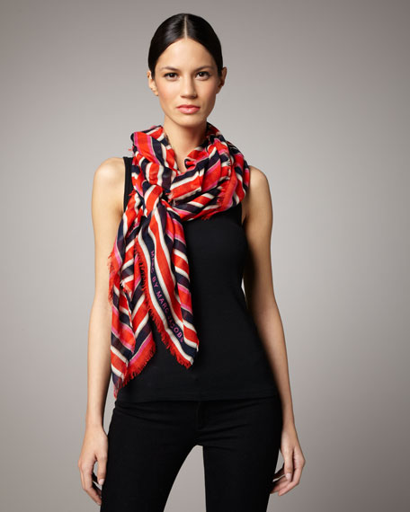 Jacobson Striped Modal Scarf