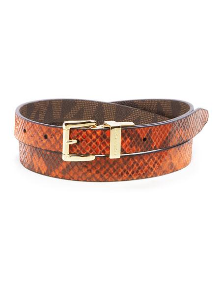 Reversible Python-Embossed Belt