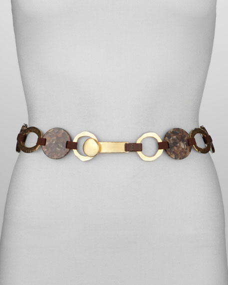 Resin Disc & Ring Belt, Brown
