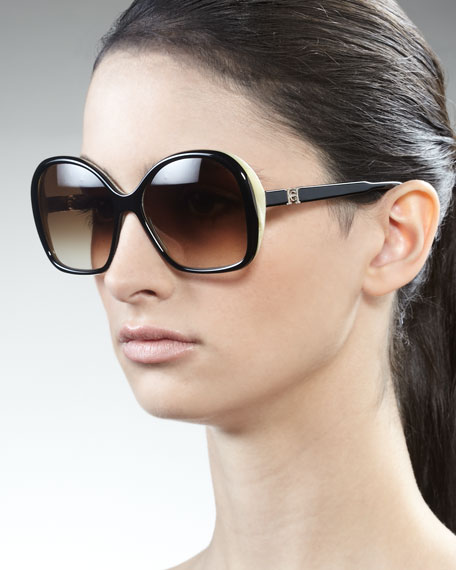 Two-Tone Sunglasses, Black