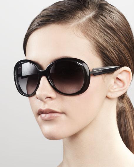 Round Frame Sunglasses, Gray