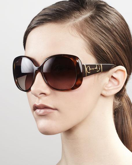Bridle Logo Sunglasses, Havana