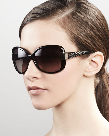 Midnight Crystal Sunglasses, Dark Havana