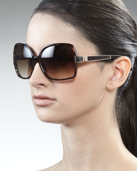 Snakeskin-Detailed Sunglasses