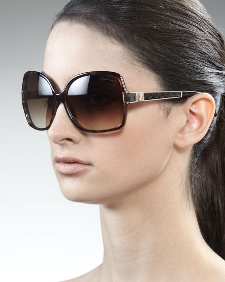 Snakeskin-Detailed Sunglasses