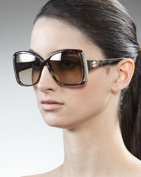 Golden Ridged Sunglasses