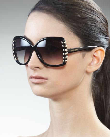 Golden Striped Sunglasses