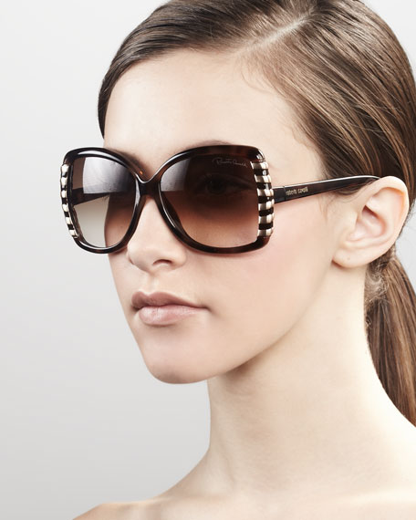 Stripe-Frame Sunglasses