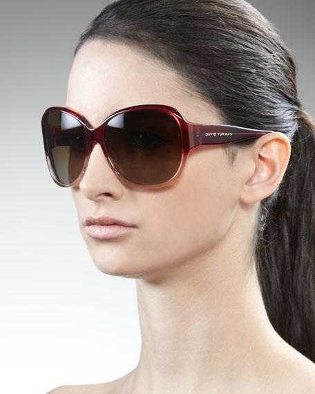 Floating Logo Polarized Sunglasses, Garnet