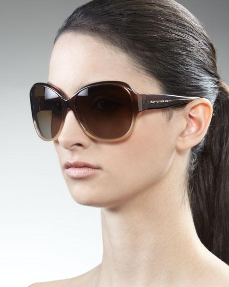 Floating Logo Polarized Sunglasses, Smoky Quartz