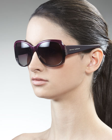 Floating Logo Polarized Sunglasses, Ametrine Fade