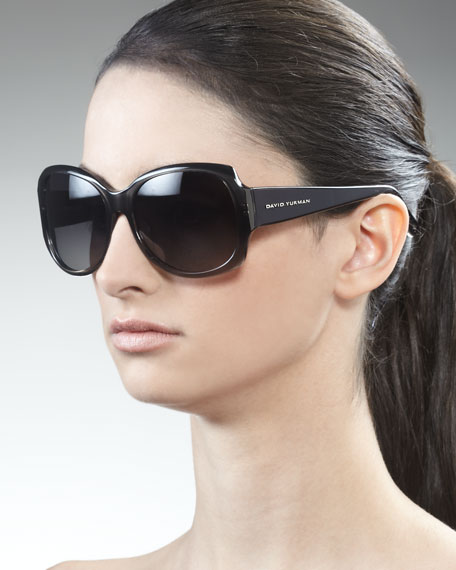 Floating Logo Polarized Sunglasses, Black Onyx Fade