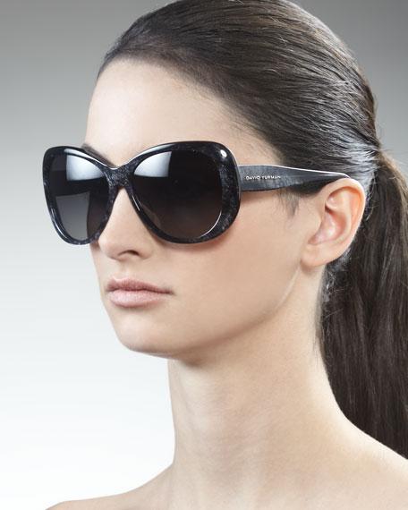 Floating Logo Polarized Sunglasses, Obsidian