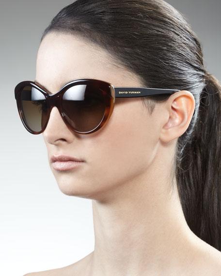 Floating Logo Polarized Sunglasses, Havana Fade