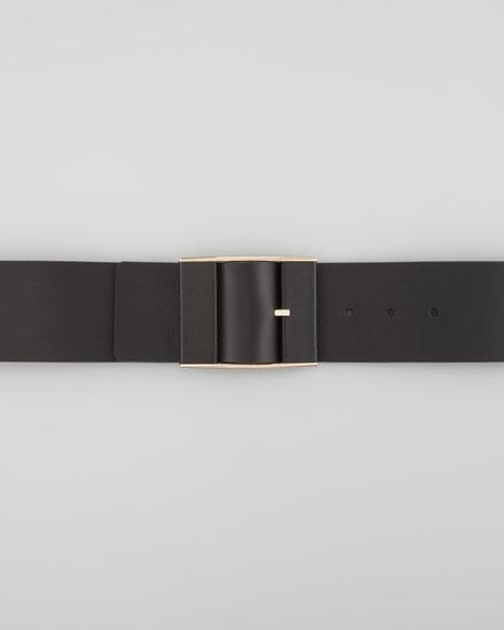 Wide Adjustable Leather Belt