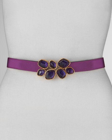 Faceted Jewel-Waist Belt