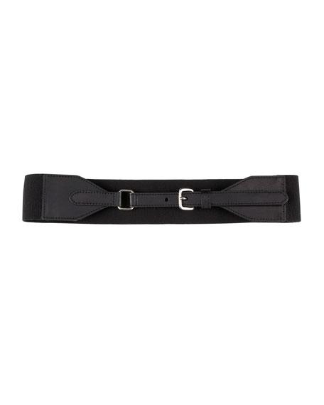 Scalloped-Tab Stretch Belt