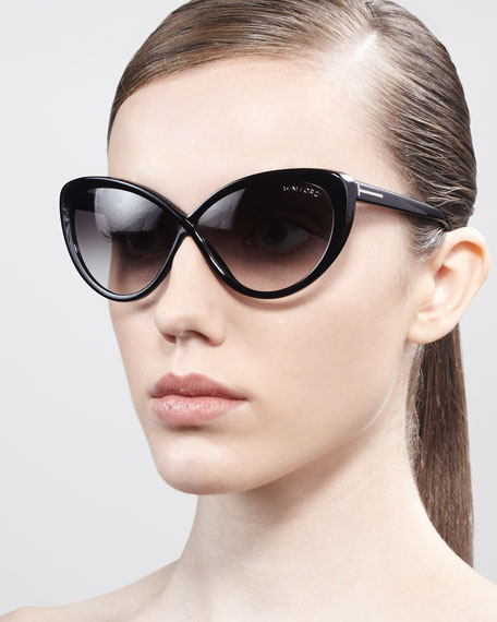 Oversized Cat Sunglasses  tom ford madison oversized cat eye sunglasses