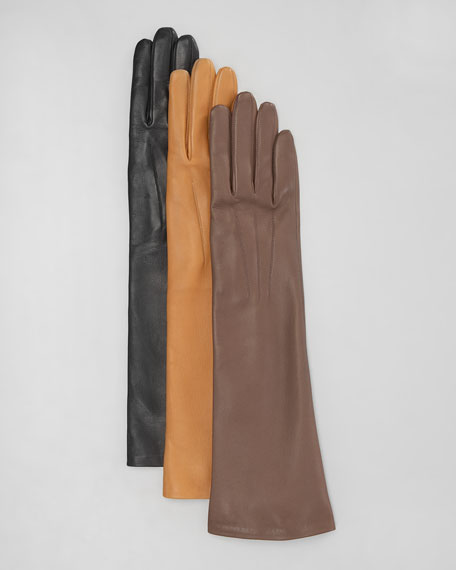 Lambskin Medium-Length Gloves