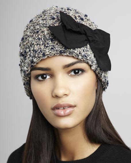 Grosgrain Bow Tweed Hat