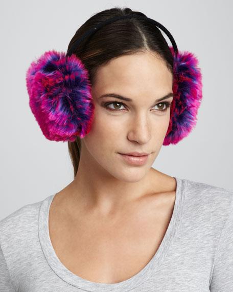faux-fur earmuffs, purple
