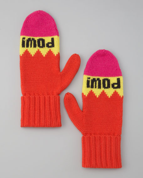 "big apple ""pow! pow!"" mittens"