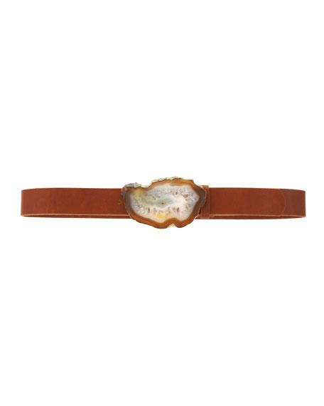 Agate-Buckle Belt