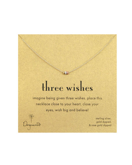 Three Wishes Stardust Bead Necklace