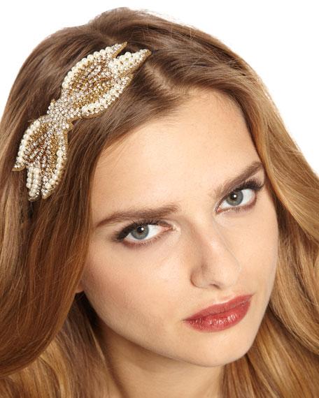Pave Crystal & Pearl Headband