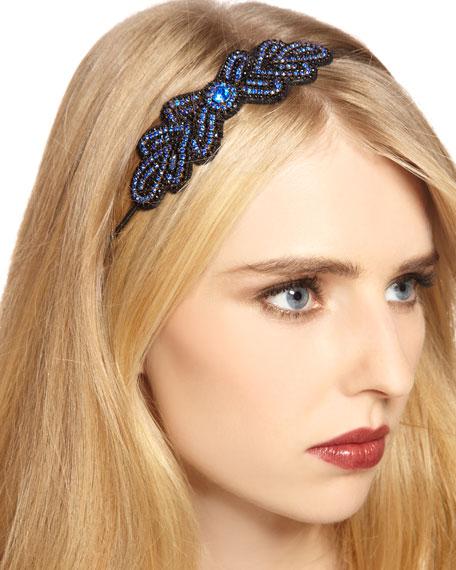 Pave Crystal Headband, Blue (Stylist Pick!)