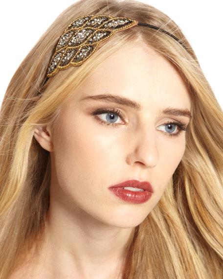 Crystal Feather Headband