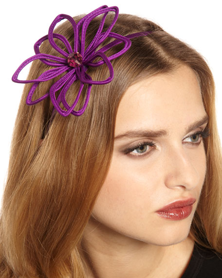 Layered Petal Headband, Electric Grape