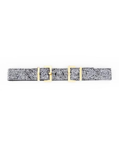 Glitter Double Buckle Belt