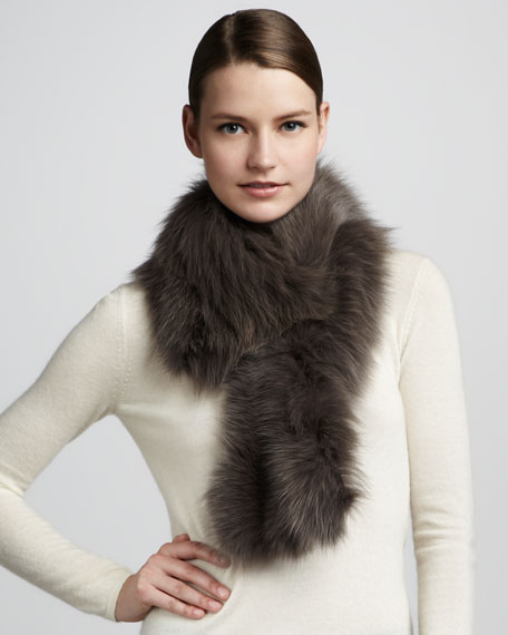 Fur Shawl Collar, Smoke