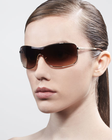 High Street Mirrored Shield Sunglasses