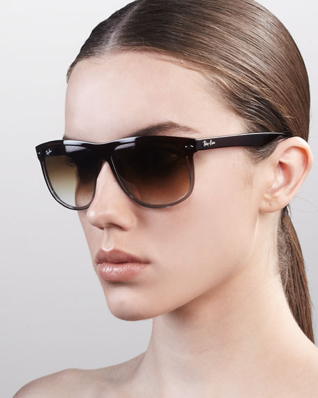Boyfriend Sunglasses, Black/Gray