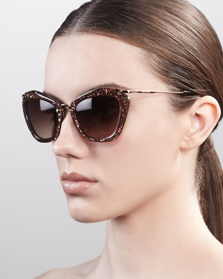 Extreme Catwalk Sunglasses, Bronze