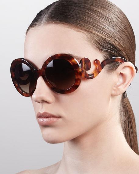 Baroque Sunglasses, Light Tortoise