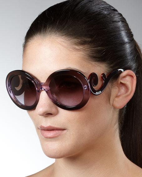 Baroque Sunglasses, Violet/Pink