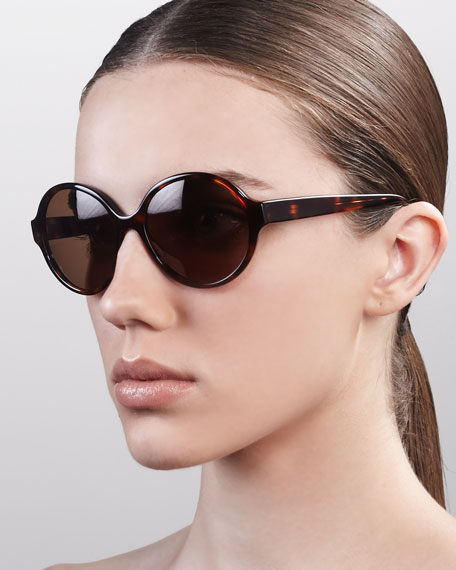 Bouvier Oversized Rounded Sunglasses, Spanish Cedar