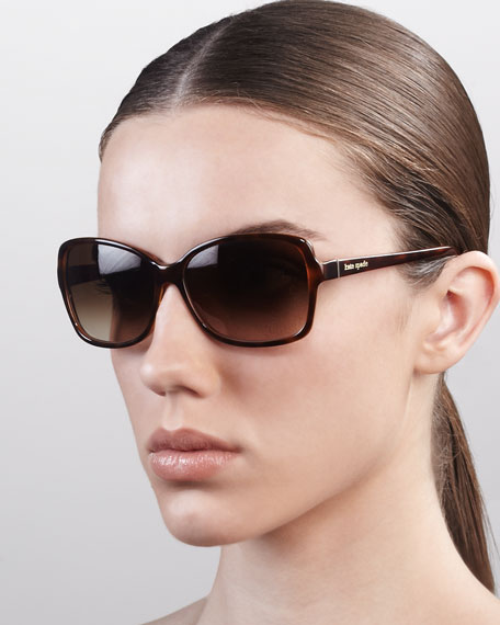 ailey square sunglasses, amber