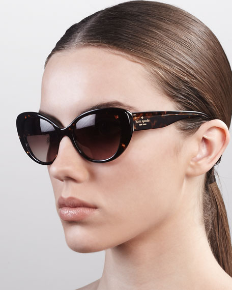 franca cat-eye sunglasses, tortoise