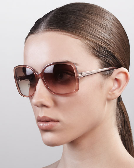 darrys oversize-square sunglasses, pink rose