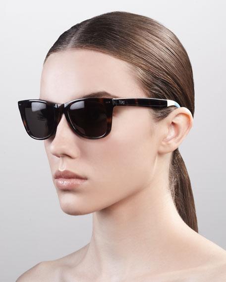 Classic 102 Sunglasses, Tortoise/Green-Gray