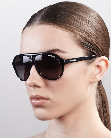 Thick Plastic Aviator Sunglasses