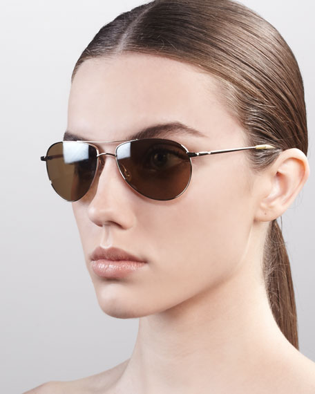 Benedict Basic Aviators, Golden/Smoky
