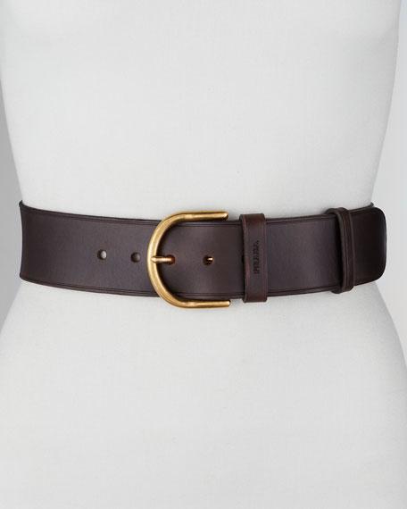 Cuoio Leather Belt, Ebano