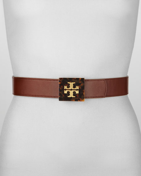Resin Logo-Buckle Belt