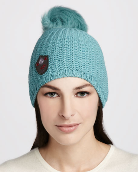 Great Jones Fur-Pompom Hat, Patina